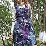 Одежда ручной работы. Ярмарка Мастеров - ручная работа Платье войлочное двустороннее Ночные огни. Handmade.