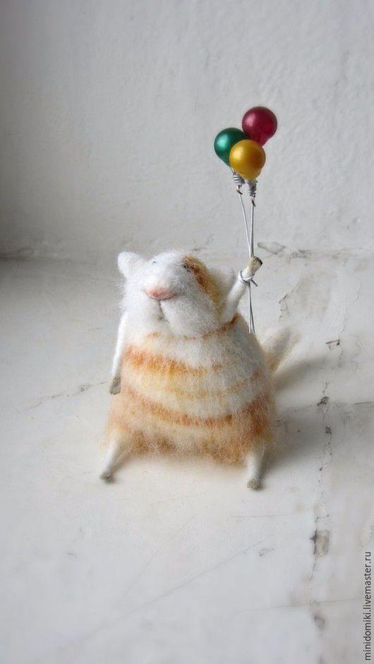 Игрушки животные, ручной работы. Ярмарка Мастеров - ручная работа. Купить Воздушные шарики. Handmade. Рыжий, валяная игрушка