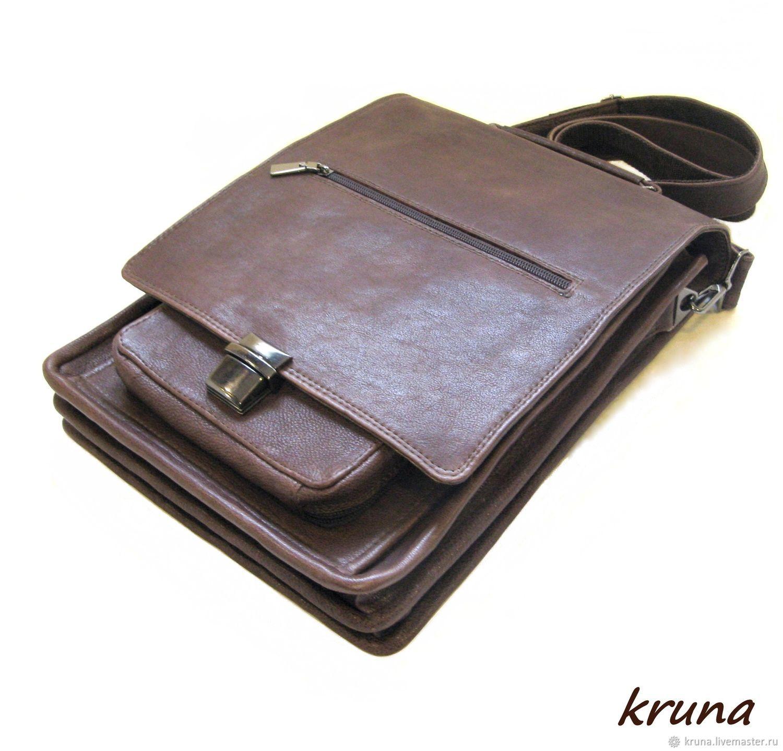 d752bdc9ab2b Большая мужская кожаная сумка-планшет – купить в интернет-магазине ...