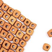 handmade. Livemaster - original item Terra square ceramic bead set 76 PCs. Handmade.