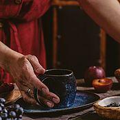 Посуда handmade. Livemaster - original item teacups: Flower of Life Mug 200 ml saucer. Handmade.
