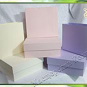 """Коробки ручной работы. Ярмарка Мастеров - ручная работа Коробки картонные """"Пастель"""" с пакетиками на заказ. Handmade."""