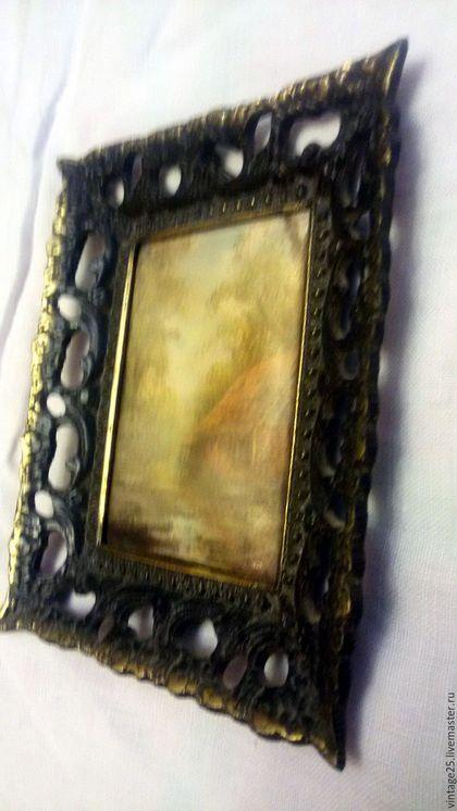 Винтажные предметы интерьера. Ярмарка Мастеров - ручная работа. Купить Винтажная шелкография, картина в раме. Handmade. Комбинированный, винтажная картина