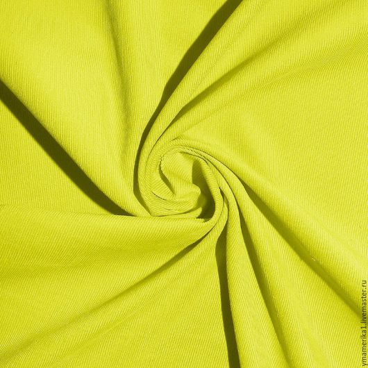 Шитье ручной работы. Ярмарка Мастеров - ручная работа. Купить Американский хлопок-вельвет  однотонный желто-зеленый. Handmade.