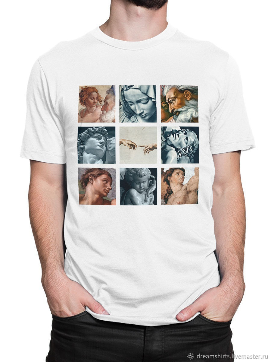 Michelangelo cotton T-shirt', T-shirts and undershirts for men, Moscow,  Фото №1