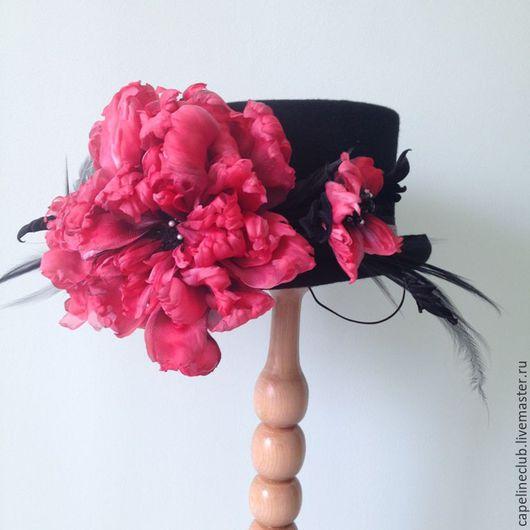 """Шляпы ручной работы. Ярмарка Мастеров - ручная работа. Купить Цилиндр """"Экзотический цветок"""". Handmade. Стиль, модный тренд, шёлк"""