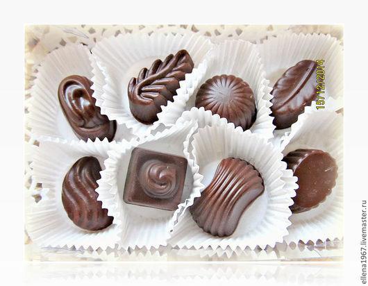 Мыло ручной работы. Ярмарка Мастеров - ручная работа. Купить Мыло Набор шоколадных конфет. Handmade. Темно-серый