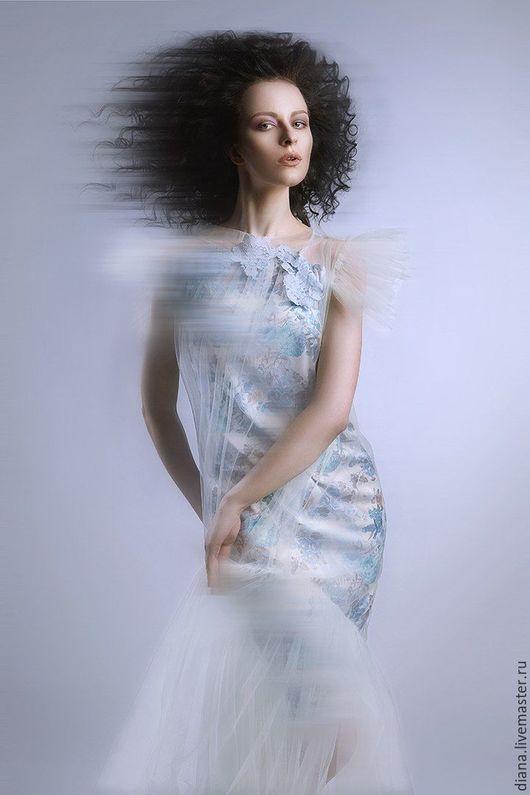 необычное дизайнерское летнее платье