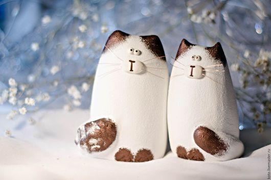 Подарки для влюбленных ручной работы. Ярмарка Мастеров - ручная работа. Купить Пара влюблённых - кот и кошка. Подарок на 8 марта. Handmade.