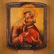 """Картины и панно ручной работы. Ярмарка Мастеров - ручная работа Богоматерь """"Взыграние младенца"""". Handmade."""