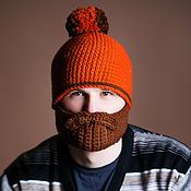 Аксессуары ручной работы. Ярмарка Мастеров - ручная работа Шапка с бородой. Handmade.