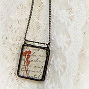 кулон винтажный Любовное письмо