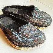 """Обувь ручной работы. Ярмарка Мастеров - ручная работа тапочки """"Therese galaxy"""". Handmade."""
