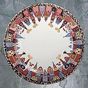 Посуда handmade. Livemaster - original item Porcelain dish 27 cm