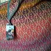 Шали ручной работы. Ярмарка Мастеров - ручная работа Жакардовая шаль. Handmade.