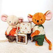 Мягкие игрушки ручной работы. Ярмарка Мастеров - ручная работа ДРУЗЬЯ мышки-тедди ( работа на заказ). Handmade.