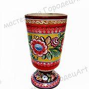 Русский стиль handmade. Livemaster - original item Pencil box (Gorodets painting). Handmade.