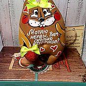 Куклы и пупсы ручной работы. Ярмарка Мастеров - ручная работа Кофейно-ванильная котя(О нервах). Handmade.