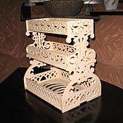Для дома и интерьера ручной работы. Ярмарка Мастеров - ручная работа Настольная полочка-органайзер. Handmade.