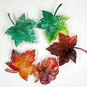 Украшения handmade. Livemaster - original item Brooch Maple leaf from jewelry resin. Handmade.