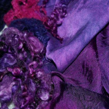 """Одежда ручной работы. Ярмарка Мастеров - ручная работа Легкое валяное пальто """"Фиолетовая страсть"""". Handmade."""