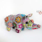 Куклы и игрушки ручной работы. Ярмарка Мастеров - ручная работа Радужный носорог. Handmade.