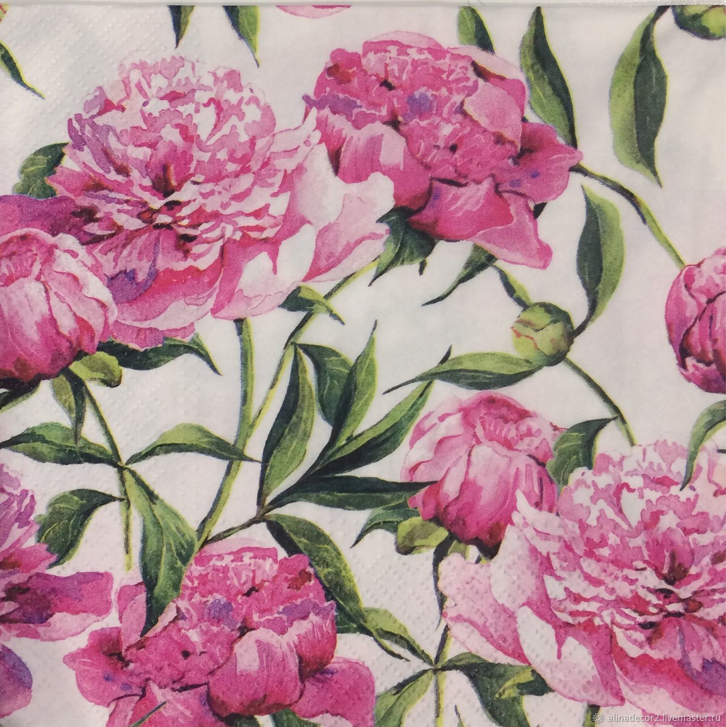 316 Napkin For Decoupage Flowers Peonies Shop Online On