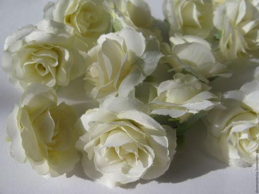 Материалы для флористики ручной работы. Ярмарка Мастеров - ручная работа. Купить Головки роз, белые. Handmade. Белый, роза