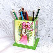 Канцелярские товары handmade. Livemaster - original item Pencil Flower Girl Anyuta). Handmade.