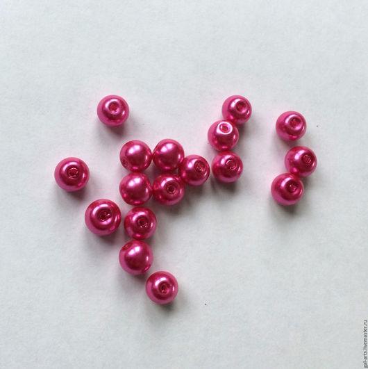 Для украшений ручной работы. Ярмарка Мастеров - ручная работа. Купить ОСТАТОК Бусина 8 мм ярко-розовая. Handmade.
