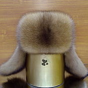 Аксессуары handmade. Livemaster - original item Men`s hat fur hat sable fur and genuine leather. Handmade.