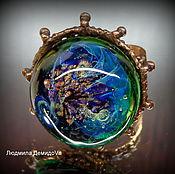 Украшения handmade. Livemaster - original item Ring On a lost island lampwork. Handmade.