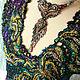 Блузка трикотаж, расшитая бусинами, бисером, натур. камнями, янтарем. Блузки. Oksis. Интернет-магазин Ярмарка Мастеров.  Фото №2