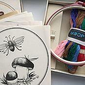 Винтаж ручной работы. Ярмарка Мастеров - ручная работа Винтажный набор для вышивания ссср советский стиль. Handmade.