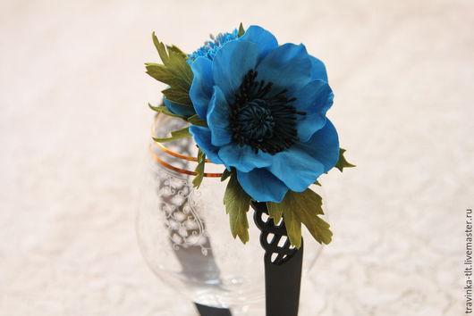"""Диадемы, обручи ручной работы. Ярмарка Мастеров - ручная работа. Купить Ободок """"Синее очарование"""". Handmade. Синий, василек"""