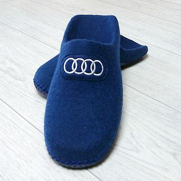 Footwear handmade. Livemaster - original item Felted Slippers for men. Handmade.