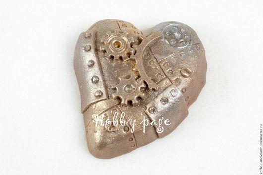 Материалы для косметики ручной работы. Ярмарка Мастеров - ручная работа. Купить Силиконовая форма для мыла Сердце стимпанк. Handmade.