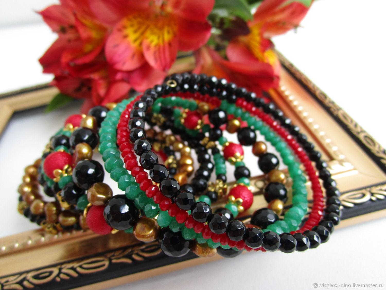 bracelet BLUE SPLASH, Bead bracelet, Nizhny Novgorod,  Фото №1