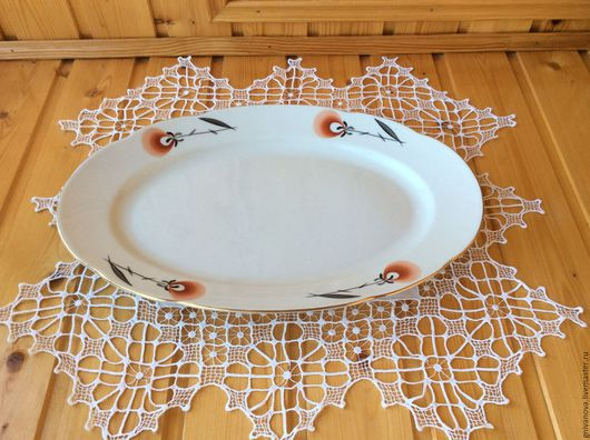 Винтажная посуда. Ярмарка Мастеров - ручная работа. Купить Фарфоровое блюдо винтаж Болгария. Handmade. Белый