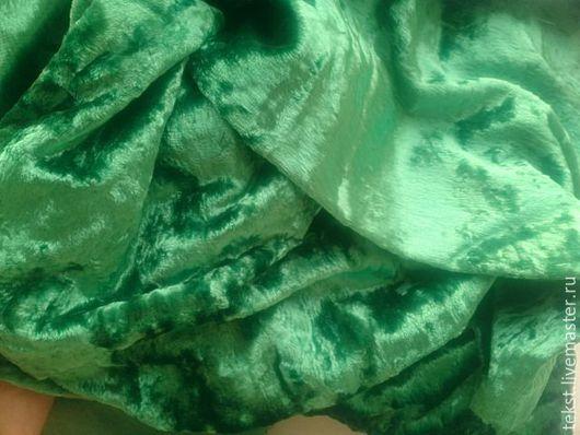 Куклы и игрушки ручной работы. Ярмарка Мастеров - ручная работа. Купить 40 х 138 см. Плюш зеленый, винтаж.. Handmade.