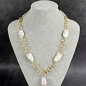 Украшения handmade. Livemaster - original item Necklace with selected large baroque pearls. Handmade.