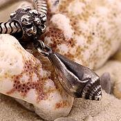 Украшения ручной работы. Ярмарка Мастеров - ручная работа Морская серия, серебряные подвески для браслетов. Handmade.