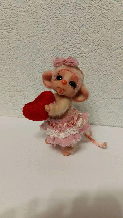 Коллекционные куклы ручной работы. Ярмарка Мастеров - ручная работа. Купить Мышка Люси. Handmade. Мышонок, подарок на любой случай
