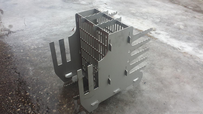 """Гибридный вертикальный мангал """"Энтузиаст"""" из нержавеющей стали 3 мм, Products, Borovichi, Фото №1"""