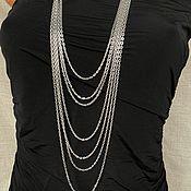 Украшения handmade. Livemaster - original item Necklace, multi-row chain cascade of chains, stylish boho necklace decoration. Handmade.