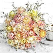 Цветы и флористика ручной работы. Ярмарка Мастеров - ручная работа «Ванильно-розовый ноктюрн» букет из сухоцветов. Handmade.