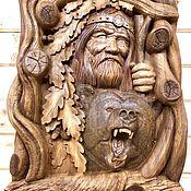 Картины и панно handmade. Livemaster - original item Panels: The Old Man and the Bear. Handmade.