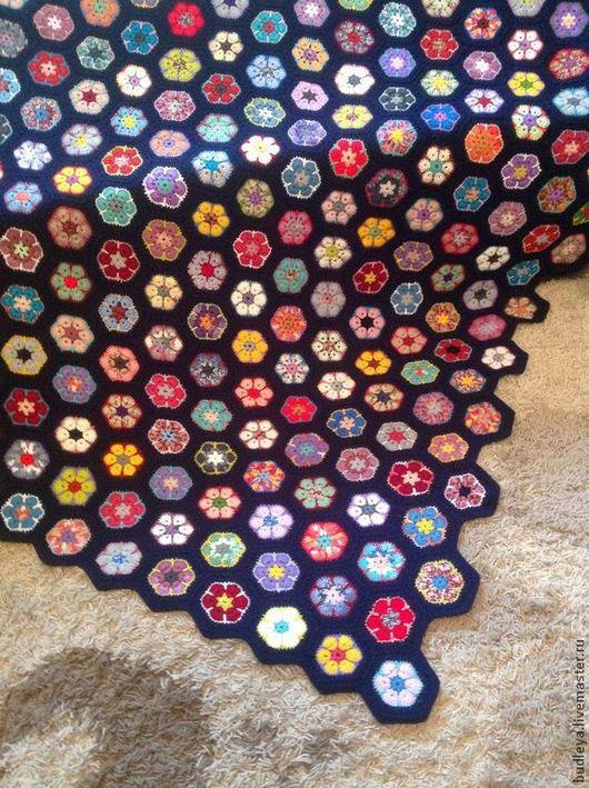 """Текстиль, ковры ручной работы. Ярмарка Мастеров - ручная работа. Купить Покрывало """"Африканский цветок"""". Handmade. Плед, покрывало пэчворк"""
