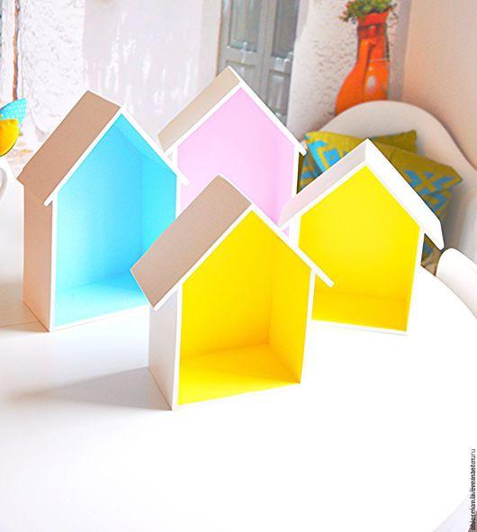 Детская ручной работы. Ярмарка Мастеров - ручная работа. Купить Полка-домик. Handmade. Полка деревянная, фанера 10 мм