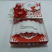 Упаковочная коробка ручной работы. Ярмарка Мастеров - ручная работа Подарочные коробки: коробочка для денежного подарка. Handmade.